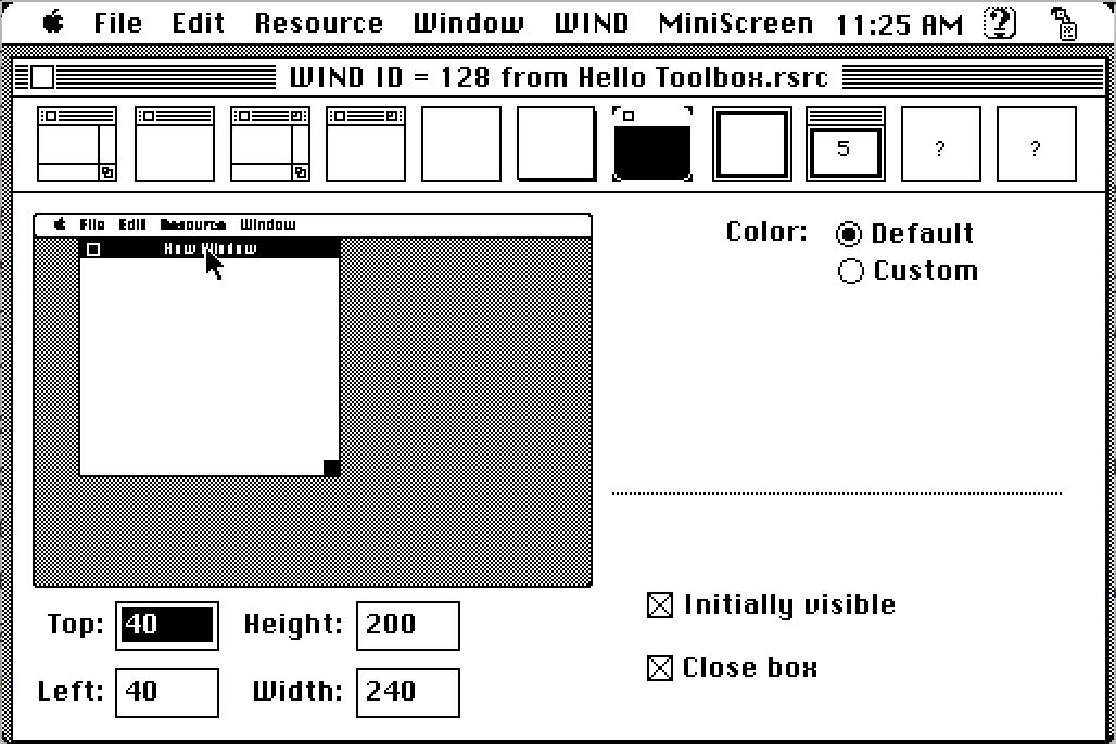 ResEdit window editor
